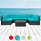 Walsunny 7pcs Patio Outdoor Furniture Sets