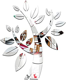 Mirror Wall Sticker-3D Mirror Sticker, Small Tree Acrylic Mirror, Living Room Bedroom Decoration Shop Wall Sticker Wall De...
