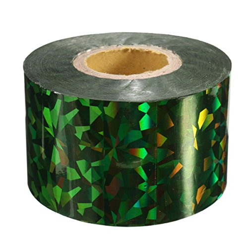 Bluelover 1Roll Ongles Transfert Feuilles Autocollants Stickers pour Ongles Art Décoration Bricolage Outils-Vert