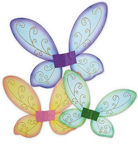 KarnevalsTeufel Elfenflügel, Feenflügel, Schmetterlingsflügel in 3 erhältlich, Märchen, Elfen, märchenhaft, zauberhaft (Lila)