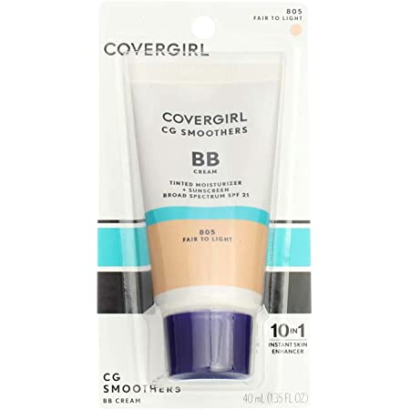 CoverGirl Smoothers SPF 21 Tinted Coverage, Fair to Light [805], 1.35 oz (Pack of 3)