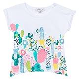 3 Pommes Rosa Mexica, Camiseta Manga Corta para Bebé-Niñas, Blanco (Blanc (Blanc)), 6-9 Meses