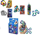 Set of 5 Tangle Fidget Toys: Original Metallic Textured Relax and...