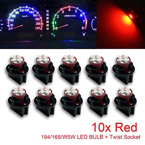 PA Lot de 10 ampoules LED T10 168 194 pour tableau de bord 12 V