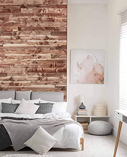 wodewa Wandverkleidung Holz selbstklebend 3D Vintage Colour Country Wandpaneele 1m² Moderne Wanddekoration Holzverkleidung Holzwand Wohnzimmer Küche Schlafzimmer