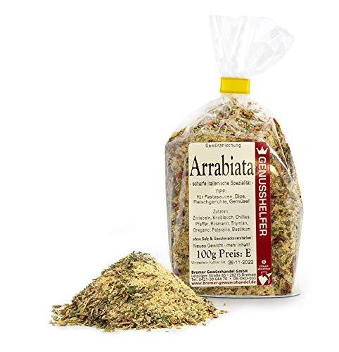 Arrabiata Gewürz 100 g - Arrabiata Gewürzmischung für Pasta, Sauce - Scharfe italienische Spezialität - Bremer Gewürzhandel