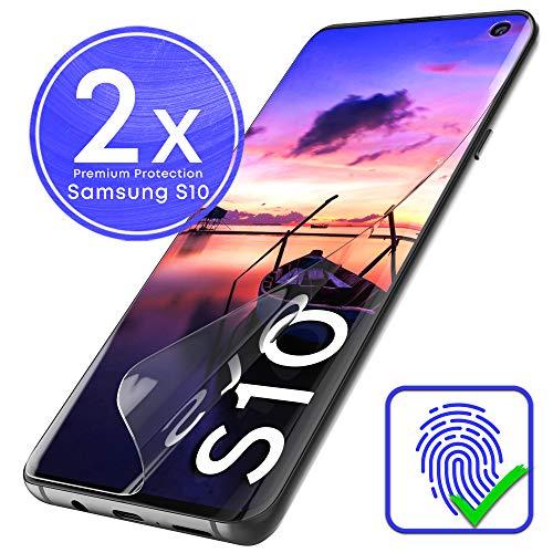 schutzfolie f/ür Samsung Galaxy S10 hochaufl/ösend ultrad/ünn 2 St/ück,TPU-Schutzfolie H/üllenfreundlich weich Keine Blasen G-Color Galaxy S10 Schutzfolie