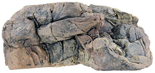 Acuami Terrarium Wand-Plateau, Fels-Plattform für Reptilien und Amphibien, Terraristik-Zubehör, Deko in Stein-Optik (M 28x19x12,5)