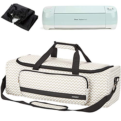 HOMEST Carrying Case with Large Pocket, Compatible with Cricut Explore Air 2, Cricut Maker, Silhouette CAME03, Ripple (Patent Design)
