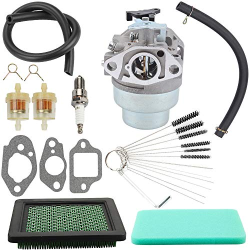Hayskill GCV160 Carburetor w Air Filter Tune Up Kit Gasket Spark Plug Fuel Line for Honda GCV160 GCV160A GCV160LA Engine HRB216 HRR216 HRS216 HRT216 HRZ216 Carb Lawn Mower