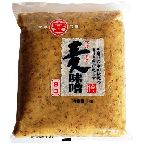 マルヤス味噌 吟みそ 麦味噌(白) 粗ずりタイプ 袋詰 1kg
