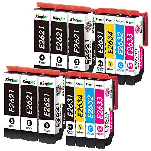 Kingjet Compatible con 26XL Cartuchos de Tinta reemplaz para Epson 26XL para Epson Expression Premium XP-510 XP-520 XP-600 XP-605 XP-610 XP-615 XP-620 XP-625 XP-700 XP-720 XP-710 XP-800 XP-810 XP-820
