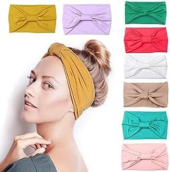 8-Packs iShoow Turban Headbands