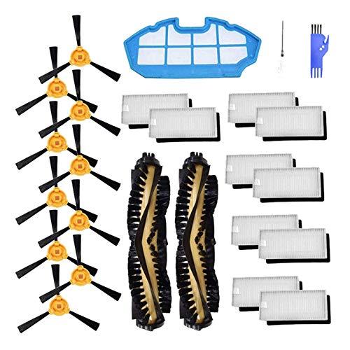 Piezas de repuesto para Ecovacs Deebot N79 N79S Robotic Aspiradora Piezas de Rodillos Filtros Cepillo Lateral