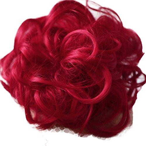 PRETTYSHOP XL Haarteil Haargummi Hochsteckfrisuren Brautfrisuren Voluminös Gelockt Unordentlich Dutt Rot G28E