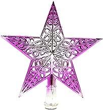 JWAKSJ Christmas Tree Topper Star Plastic Christmas Star Tree Topper for Christmas Table Decor Colorful Craft Xmas DIY Accessories 7