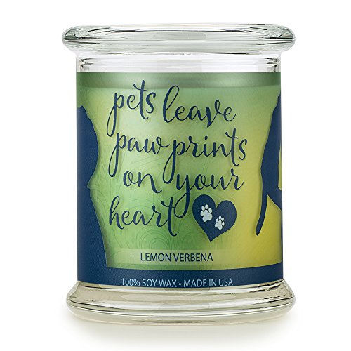 One Fur All Pet House Sentiments Candle, Natural Soy Wax, Pet Lover Gifts, Non-Toxic, Allergen-Free, Eco-Friendly Candle, Pet Odor Neutralizer, (Lemon Verbena)