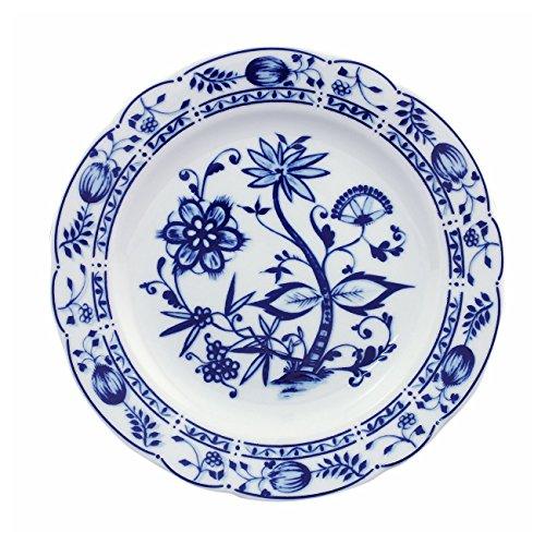 Triptis 1350380670019116 Romantika Zwiebelmuster Frühstücksteller Ø 19 cm, Porzellan, weiß/blau (6er Pack)