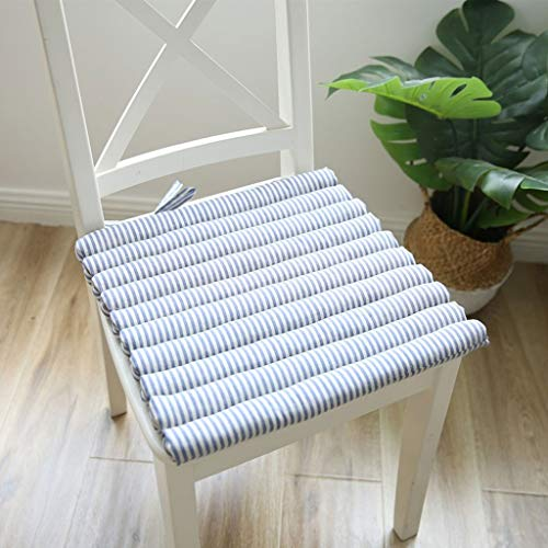 Sitzkissen Stuhlkissen Gartenkissen Cushion Chair Sitzkissen mit Bindebändern - for den Innenbereich im Freien, Patio, Küche und Büro, 40 * 40 cm (Color : Blue)