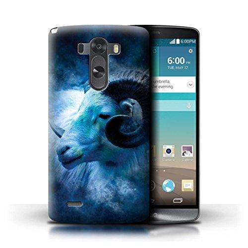 Stuff4® Carcasa/Funda Dura para el LG G3/D850/D855 / Serie: Zodíaco Estrella Firmar - Aries/Ram