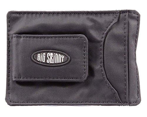 Big Skinny Herren Magnetisch Geldklammer Slim Wallet für bis zu 12 Karten Schwarz
