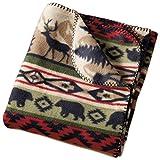 DII Back Country Stripe Fleece Throw Blanket, Multi