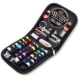 Kit de couture de voyage, AUERVO 70 fournitures de couture de qualité supérieure, mini kit de couture pour la maison, les voyages et les urgences remplis d'aiguilles de réparation et de couture