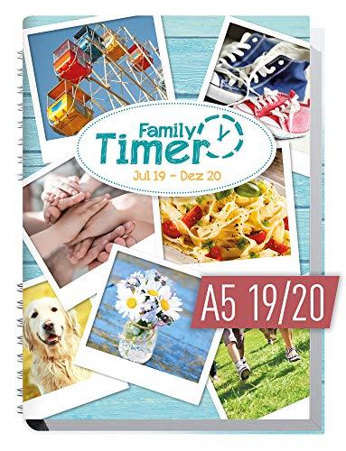 Family-Timer 2019/2020 - Der Familien-Planer! 18 Monate Juli 2019 - Dezember 2020, Familienkalender für bis zu 4 Personen + viele hilfreiche Features