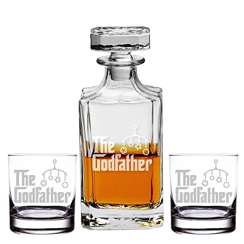 The Godfather Decanter and Rocks Glasses, Set of 3