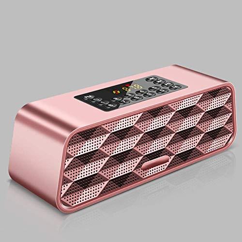Digital Alarm Clock Radio FM Radios,Large LED Display Portable FM Radio for Seniors with Bluetooth Wireless Speaker, Headphone Jack, Supports USB Disk/TF Card