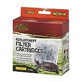 Zilla Reptile Terrarium Filter Replacement Cartridges, Medium, 3-Pack