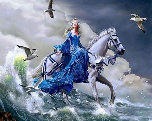 ASWETOTG New HD Jigsaw Puzzles for DIY Children 1000 Piece for Educational Adult Children Friends Decoration Gift-Babe On A White Horse 75X50CM