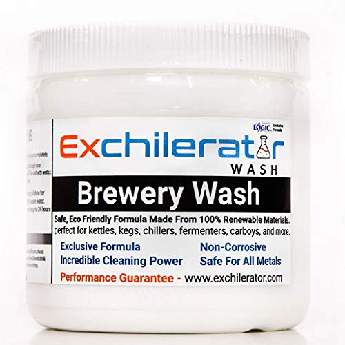 Exchilerator - Powdered Brewery Wash - Carboy Cleaner - For Wort Chillers - All Home Brewing Surfaces - Home Brewer Kettles - Pumps - Home Brewers Gift - 1 lb. Made In USA