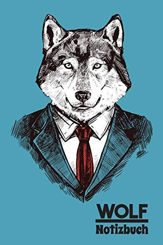Wolf Notizbuch: Tagebuch, Notizheft und Journal | Für Freizeit, Schule und Hobby | Geschenkidee für Kinder und Hipster