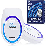 2 Pack Ultrasonic Pest Repeller - Mosquito, Rodent Control Plug in Device - Reject Roaches, Ants, Bugs, Squirrels, Spiders, Mice