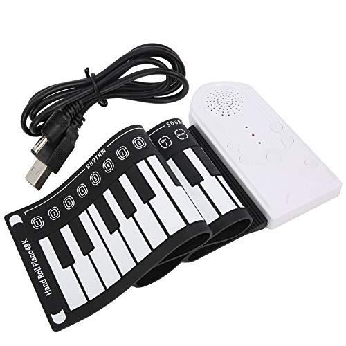 Teclado de piano eléctrico, 49 teclas Teclado eléctrico USB recargable 49 teclas para principiantes