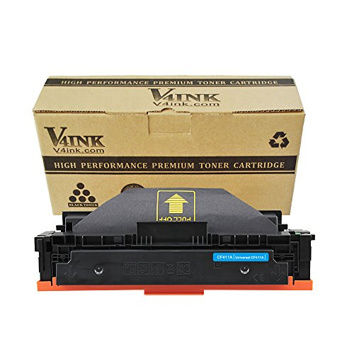V4INK New Compatible 410A CF411A Cyan Toner Cartridge for HP Color Laserjet Pro M452dn M452nw M452dw,MFP M477fdn M477fdw M477fnw Printer