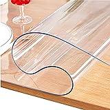 JINCHENJIAJU 透明 テーブルクロス PVC製 テーブルマット デスクマット マット テーブルカバー ビニールマット厚さ1.0mm 1.5mm 2.0mm,防塵-防水-耐久-耐熱汚れ防止,正方形/矩形サイズ選択可能カスタマイズ可能(透明1.5mm*75*120cm)