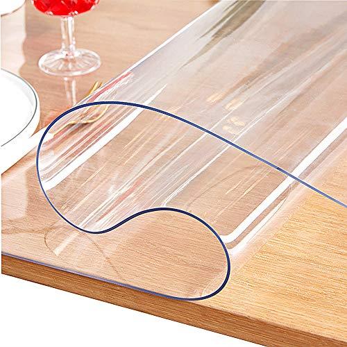 JINCHEN テーブルクロス テーブル マット 透明 ビニールマット 耐熱マット カスタマイズ可能(透明2.0*75*120)
