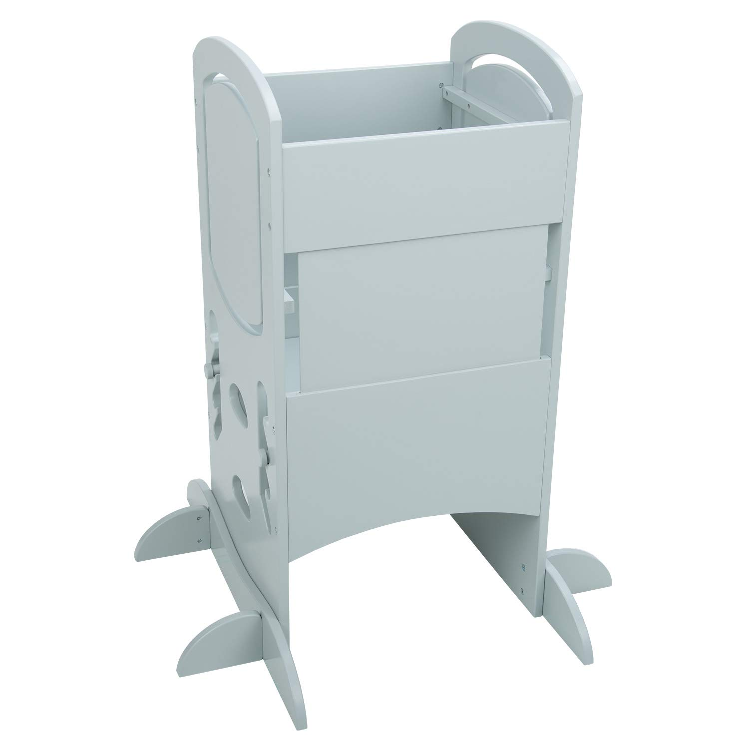 Plywood//Grey KiddyMoon Wooden Kitchen Helper Step Stool for Kids Toddlers ST-002