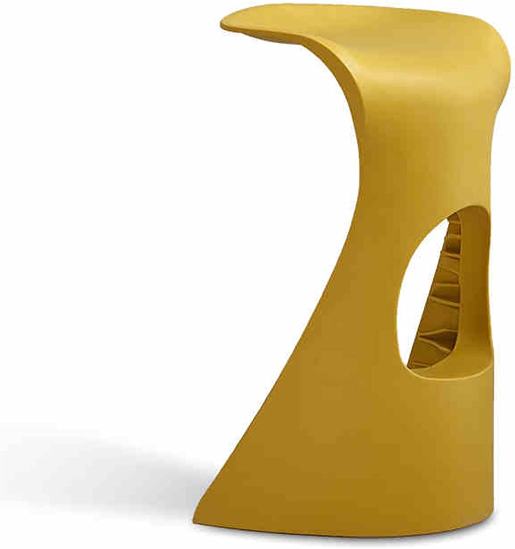 Simple White Bar Stool Fashion High Stool Creative Bar Chair Plastic High Stool Shark Counter Chair (color   Beige)