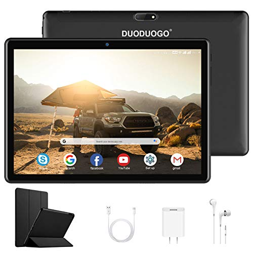 Tablet 10.1 Pollici con WIFI Offerte 4G, DUODUOGO G10 Android 10.0 Quad Core 32GB ROM/Fino a 128GB 3GB RAM WIFI Tablet PC Offerte Google GMS Netflix Dual SIM/Camera GPS Bluetooth