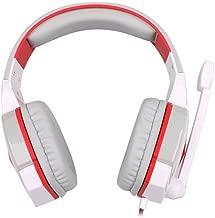 Ameryah KOTION EACH G4000 Pro Gaming Headset Headphones Microphone LED Light Stereo Surround Headband for computer pc - White -