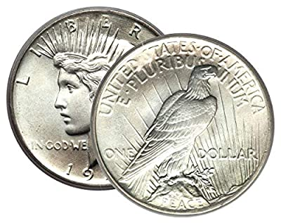 1 - Peace Silver Dollar Mid-1920's Dated Dollar Extra Fine or Better Dollar XF or Better
