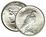 Now in Stock! Brilliant Uncirculated Peace Dollar Dated in the Mid Twenties Will not include 1921 or 1928 Mint Set Only Coin That Was Never Sent into Circulation