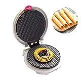JUNJIJINGXIANG Macchine per Waffle Waffle Maker 750W Elettrico Egg Roll creatore Croccante frittata Stampo di Cottura Pan Pancake Bakeware Double-Sided Riscaldamento Sospensione Design