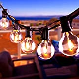 BACKTURE Guirlande Lumineuse, Guirlande Guinguette 16 LED Ampoules 0.6W+2 Ampoules de Rechange, Décoration ficelles de lumières pour Intérieur et Extérieur Patio, Café, Jardin, Fête, Noël, Mariage