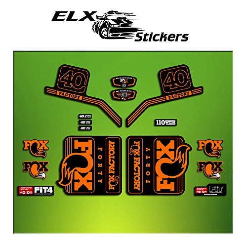Pegatinas HORQUILLA FORK FACTORY FOX 40 2016 ELX19 STICKERS AUFKLEBER AUTOCOLLANT ADESIVI BICICLETA CYCLE MTB BIKE NARANJA / ORANGE