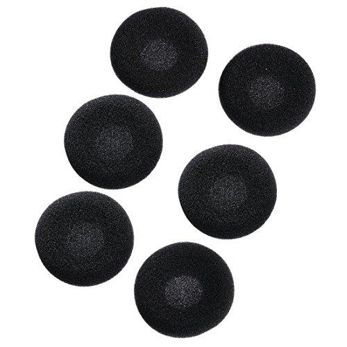 Thomson EARA120 Schaumstoff-Ohrpolster für Kopfhörer, ø 45 mm, universal, 6 Stück, schwarz/grau