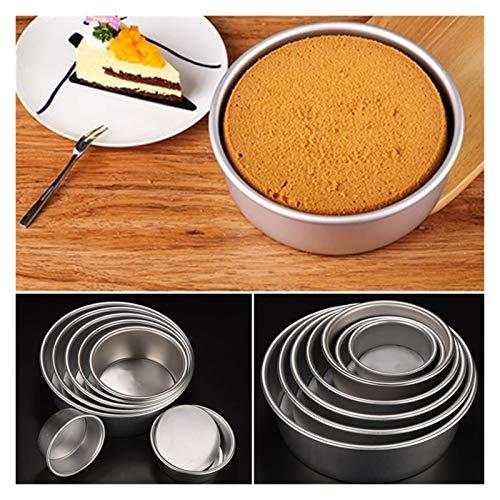 BZRXQR Molde de Pastel, Aleación de Aluminio Bocadillo Redondo Pastel de horneado para Hornear Pan Molde Molde de Molde Cocina Herramienta de DIY para Pastel (Size : 4 Inch)